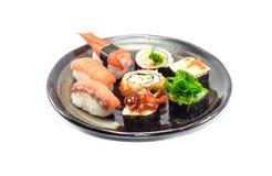 Sushi on dish Royalty Free Stock Image