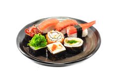 Sushi on dish Royalty Free Stock Images