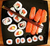 Sushi dish seen from above Stock Image
