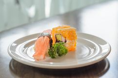 Sushi in dish Stock Photo