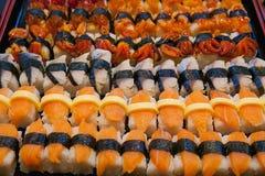 Sushi dos salmões e do atum Imagens de Stock