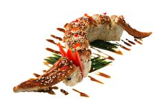 Sushi dragon with eel Royalty Free Stock Images