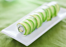 Sushi - Dragon roll with avocado and crab meat Stock Images
