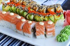 Sushi drei Drachen Stockbild