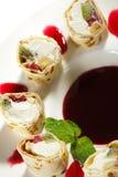 Sushi dulce Rolls de la fruta imagen de archivo