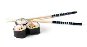 Sushi e chopsticks Fotografia de Stock