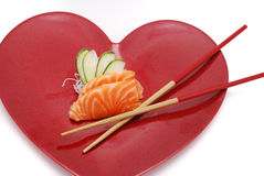 Sushi e cuore Fotografia Stock Libera da Diritti