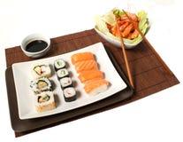 Sushi e gambero Fotografie Stock