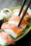 Sushi e maki Foto de Stock