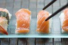 Sushi e maki Fotografia Stock Libera da Diritti