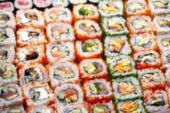 Sushi e rolos Foto de Stock Royalty Free