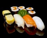 Sushi e rolos Imagem de Stock Royalty Free