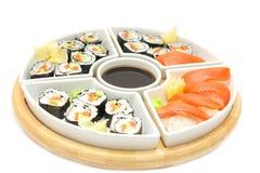 Sushi e rulli Immagini Stock