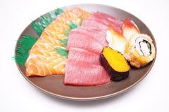 Sushi e Sashimi japoneses do alimento Imagem de Stock Royalty Free