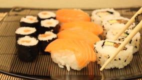 Sushi stock footage
