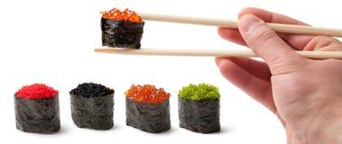 Sushi - Ebi Nigiri Royalty Free Stock Photography