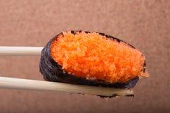 Sushi, Ebiko, Garnele ärgert, Tamagoyaki, Ebiko, Ebi Nigiri Lizenzfreie Stockbilder