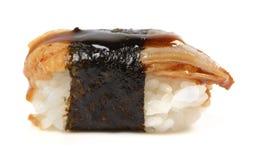 Sushi. Eel nigiri isolated on white background Stock Photos