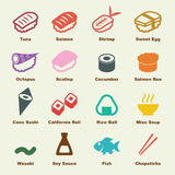 Sushi elements stock illustration