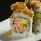 Sushi em uma placa branca Fotografia de Stock Royalty Free