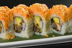 Sushi em uma placa branca Fotografia de Stock