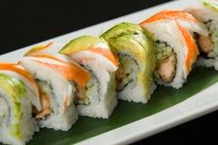 Sushi em uma placa branca Imagem de Stock Royalty Free