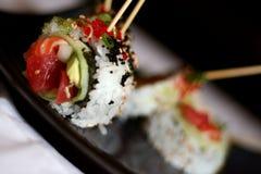 Sushi embrochés 2 Photos libres de droits