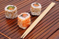 Sushi en broodjes Royalty-vrije Stock Afbeelding