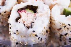Sushi en cierre para arriba foto de archivo