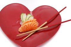 Sushi en Hart Royalty-vrije Stock Fotografie