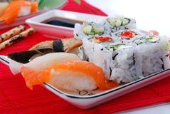 Sushi en maki Stock Foto's