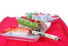 Sushi en maki Royalty-vrije Stock Foto