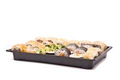 Sushi en rectángulo Fotografía de archivo libre de regalías