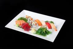 Sushi en sashimi Stock Afbeelding