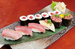 Sushi en sashimi Stock Foto's
