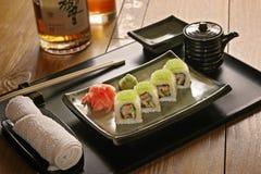 Sushi en una placa Foto de archivo libre de regalías