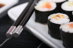 Sushi en una placa III Fotos de archivo libres de regalías