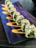 Sushi Enoki karaage Roll stock photo
