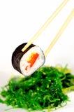 Sushi et algue Photographie stock
