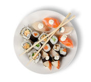 Sushi et roulis Photos stock