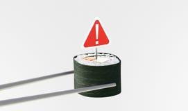 Sushi expired, unsanitary, dangerous. Sushi, japanese food, dangerous and expired Royalty Free Stock Photography