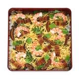 sushi för chirashimatjapan Arkivfoto