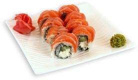 Sushi för Japaneese kokkonstmål arkivfoto