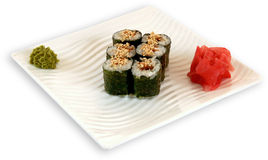 Sushi för Japaneese kokkonstmål fotografering för bildbyråer