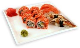 Sushi för Japaneese kokkonstmål arkivfoton
