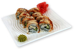 Sushi för Japaneese kokkonstmål Royaltyfri Foto