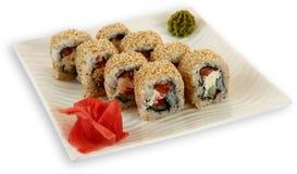 Sushi för Japaneese kokkonstmål Arkivbilder