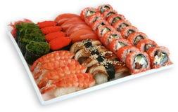Sushi för Japaneese kokkonstmål royaltyfri bild
