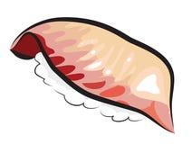 Sushi för röda Snapper Fotografering för Bildbyråer