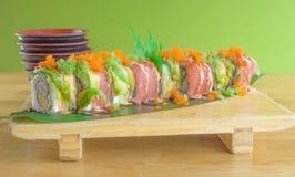 sushi för rullforstudio Arkivfoto